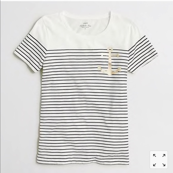 J. Crew Tops - J. Crew Anchor Striped T-shirt